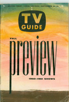 1960 TV Guide Sep 24 Fall Preview New Mexico edition Very Good to Excellent - No Mailing Label  [Lt wear and creasing on cover, ow clean]