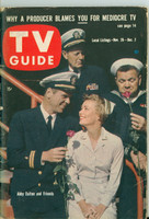 1960 TV Guide Nov 26 Hennesey Northern California edition Very Good to Excellent - No Mailing Label  [Wear on binding, cover scuffing; contents fine]