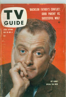 1959 TV Guide Nov 28 Art Carney Southern Ohio edition Very Good to Excellent - No Mailing Label  [Wear and heavy creasing on cover, contents fine]
