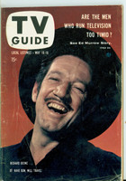 1958 TV Guide May 10 Richard Boone of Have Gun Will Travel (First Cover) Pittsburgh edition Very Good - No Mailing Label  [Wear and creasing on cover, contents fine]