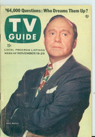 1955 TV Guide Nov 19 Jack Benny Southern Ohio edition Very Good - No Mailing Label  [Wear and creasing on cover, contents fine]