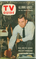 1953 TV Guide Apr 10 Jack Webb of Dragnet NY Metro edition Very Good - No Mailing Label  [Wear and heavy toning on cover; contents fine]