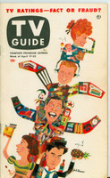 1953 TV Guide Apr 17 TV Ratings (Milton Berle, Godfrey, Lucy, Caesar) Philadelphia edition Very Good - No Mailing Label  [Heavy toning/staining on reverse cover, front cover and contents fine]