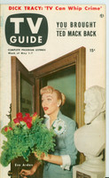 1953 TV Guide May 1 Eve Arden of Our Miss Brooks Cincinnati-Dayton edition Very Good to Excellent - No Mailing Label  [Lt wear, toning along binding, ow very clean]