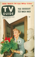 1953 TV Guide May 1 Eve Arden of Our Miss Brooks Mid States edition Excellent - No Mailing Label  [Very clean example]
