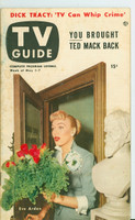 1953 TV Guide May 1 Eve Arden of Our Miss Brooks Mid States edition Very Good - No Mailing Label  [Toning on cover, contents fine]