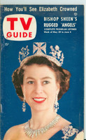 1953 TV Guide May 29 Queen Elizabeth Chicago edition Very Good to Excellent - No Mailing Label  [Lt scuffing and wear on cover, ow clean]