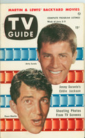 1953 TV Guide Jun 5 Dean Martin and Jerry Lewis Detroit edition Excellent - No Mailing Label  [Lt wear on cover, ow clean]