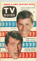 1953 TV Guide Jun 5 Dean Martin and Jerry Lewis Washington-Baltimore edition Very Good - No Mailing Label  [Lt wear, toning along binding, contents fine]