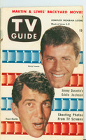 1953 TV Guide Jun 5 Dean Martin and Jerry Lewis Mid States edition Very Good - No Mailing Label  [Lt wear along binding, lt creasing on cover; contents fine]