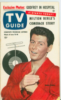 1953 TV Guide Jun 12 Eddie Fisher Northwest edition Very Good - No Mailing Label  [Minor paper loss on tip of cover, contents fine]