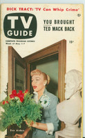 1953 TV Guide May 1 Eve Arden of Our Miss Brooks NY Metro edition Very Good - No Mailing Label  [Lt wear and toning on cover; contents fine]
