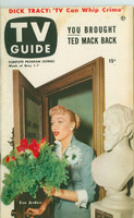 1953 TV Guide May 1 Eve Arden of Our Miss Brooks NY Metro edition Very Good - No Mailing Label  [Lt wear, toning and lt wear on cover; contents fine]