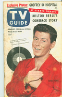 1953 TV Guide Jun 12 Eddie Fisher NY Metro edition Good to Very Good - No Mailing Label  [One piece of tape on cover; wear on binding, contents fine]