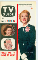 1953 TV Guide Jun 26 Dinah Shore New England edition Very Good to Excellent - No Mailing Label  [Lt wear and scuffing on cover, contents fine]