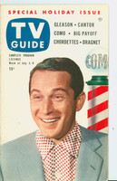 1953 TV Guide Jul 3 Perry Como Mid States edition Excellent - No Mailing Label  [Lt wear on cover, ow clean]