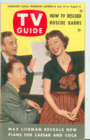 1953 TV Guide Jul 31 Sid Caesar and Imogene Coca Washington-Baltimore edition Excellent - No Mailing Label  [Lt wear and scuffing on cover, contents fine]