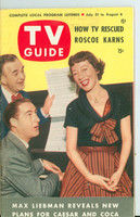 1953 TV Guide Jul 31 Sid Caesar and Imogene Coca NY Metro edition Excellent  [Lt wear, toning along binding, address stamped on reverse; contents fine]