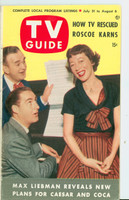 1953 TV Guide Jul 31 Sid Caesar / Imogene Coca Mid States edition Very Good to Excellent - No Mailing Label  [Lt wear and scuffing on cover, contents fine]