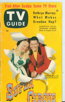 1953 TV Guide Aug 21 Super Circus ft: Mary Hartline Detroit edition Very Good to Excellent  [Wear and lt creasing on cover, contents fine; label on reverse]