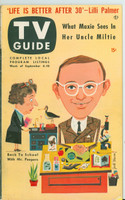 1953 TV Guide Sep 4 Wally Cox of Mr Peepers Northwest edition Excellent - No Mailing Label  [Lt wear on cover; ow very clean]