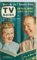 1953 TV Guide Sep 11 Joan Caulfield and Ralph Edwards on This Is Your Life Washington-Baltimore edition Very Good to Excellent  [Lt wear on cover; ow clean, label on reverse]