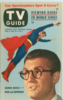 1953 TV Guide Sep 25 George Reeves as Superman Northwest edition Very Good to Excellent - No Mailing Label  [Lt toning along binding and top of cover; sm scratch on cover, ow very clean; LT WRT in pencil]