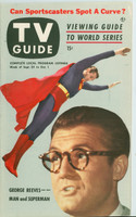1953 TV Guide Sep 25 George Reeves as Superman Mid States edition Excellent to Mint  [Very clean example, mail address stamped on reverse]
