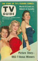 1953 TV Guide Oct 16 Beauty Contest Winners (Angie Dickinson) Cincinnati-Dayton edition Excellent  [Very lt wear and toning on cover, label on reverse cover]