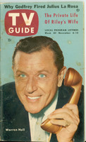 1953 TV Guide Nov 6 Warren Hull of Strike It Rich NY Metro edition Good to Very Good - No Mailing Label  [Spotting and staining on cover, contents fine]