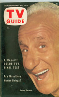 1953 TV Guide Nov 13 Jimmy Durante Philadelphia edition Very Good to Excellent - No Mailing Label  [Lt wear on cover, ow clean]