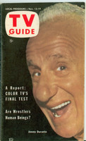 1953 TV Guide Nov 13 Jimmy Durante Iowa edition Excellent  [Lt wear on cover; ow very clean, mail address stamped on reverse]