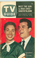 1953 TV Guide Nov 20 Julius LaRosa and Dorothy McGuire Iowa edition Very Good to Excellent - No Mailing Label  [Lt spotting and staining on cover, contents fine]