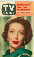 1953 TV Guide Dec 4 Loretta Young Illinois edition Very Good - No Mailing Label  [Heavy writing in pencil on reverse cover; lt cover wear, contents fin]