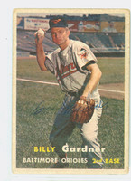 Billy Gardner AUTOGRAPH 1957 Topps #17 Orioles CARD IS CLEAN G/VG