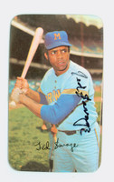 Ted Savage AUTOGRAPH 1971 Topps  Supers Brewers 