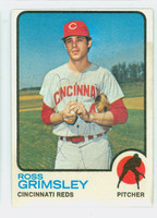 Ross Grimsley AUTOGRAPH 1973 Topps #357 Reds 