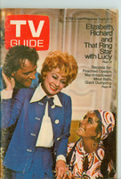 1970 TV Guide Sep 5 Lucille Ball with Elizabeth Taylor and Richard Burton Northern New England edition Very Good to Excellent - No Mailing Label  [Wear and scuffing on cover; contents fine]