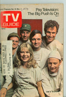 1973 TV Guide Feb 24 Cast of MASH (First Cover) Western New England edition Very Good to Excellent  [Wear and staining on cover, sl moisture; contents fine]