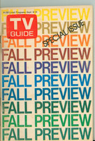 1973 TV Guide September 8 Fall Preview New Orleans edition Very Good - No Mailing Label  [Loose at the staples, wear and scuffing on cover; contents fine]