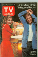 1974 TV Guide Jun 15 Happy Days (First Cover) Central Ohio edition Very Good - No Mailing Label  [Sl loose at the staples, creasing on cover, contents fine]