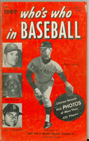 1969 Who's Who in Baseball Denny McLain, Rose, Gibson, Yastrzemski Very Good [Wear and discoloration along binding, stray pen mark; contents fine]