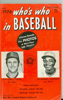1976 Who's Who in Baseball Joe Morgan, Fred Lynn Very Good to Excellent [Wear and lt creasing on cover; contents clean]