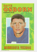1971 Topps Football Pin-Ups 6 Dave Osborn Minnesota Vikings Excellent