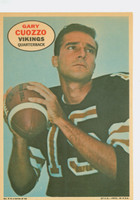 1968 Topps Football Posters 9 Gary Cuozzo Minnesota Vikings Very Good to Excellent