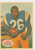 1968 Topps Football Posters 12 Brad Hubbert San Diego Chargers Excellent