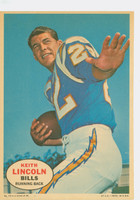 1968 Topps Football Posters 13 Keith Lincoln San Diego Chargers Excellent
