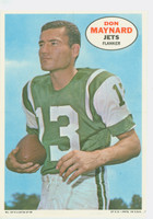 1968 Topps Football Posters 14 Don Maynard New York Jets Very Good to Excellent