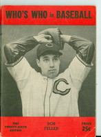 1941 Who's Who in Baseball Bob Feller Excellent [Wear and lt creasing on cover; contents fine, very clean]