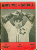 1941 Who's Who in Baseball Bob Feller Very Good to Excellent [Creasing on cover, contents fine]